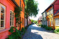 Møllestien, the most beautiful street in Aarhus, Denmark