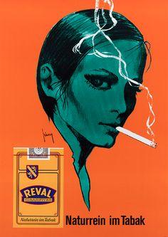 Illustration by Gerd Grimm, 1974, Reval Cigaretten naturrein. (G)