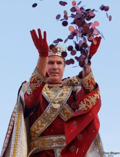 Will Farrell rollin' those doubloons & rulin' in Bacchus! The Krewe of Bacchus holds Carnival with a Sunday night parade and is a highlight of the Carnival season with a national celebrity king leading the parade. Founded and run lovingly by the Brennan family, Bacchus is a true gift to the visitors & tourists coming to celebrate Mardi Gras. <3