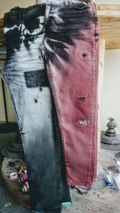 Patched Jeans, Denim Jeans Men, Ripped Jeans, Jeans Pants, Blue Jeans, Skinny Jeans, Mens Fashion Wear, Denim Fashion, Sneakers Fashion