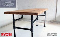 DIY pipe table from Ben Uyeda + HomeMade Modern
