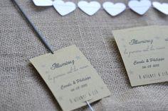 20 étiquettes pour bâton étincelle - haie d'honneur mariage cérémonie - personnalisable - message - fait main