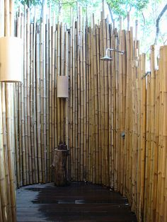 outdoor shower: I can't think of a better place to shower after a day of working in the garden.