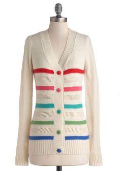 Dandy Stripes Cardigan, #ModCloth