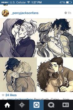 <3 Percabeth <3 Caleo <3 Jasper <3 Frazel <3 >>>>>>> Frank's face is pricless. Like the look of shock is perfect