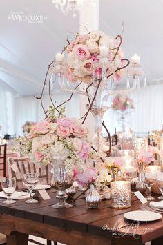 Jaw-Dropping Gorgeous Wedding Flower Ideas - wedding centerpiece. Event Design: Rachel A. Clingen Wedding & Event Design; Photo: 5IVE15IFTEEN PHOTO COMPANY; Via Wedluxe