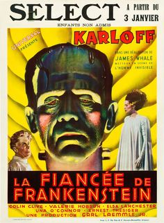 Playing at a theater near you - if you live in France - The Bride of Frankenstein (1935).