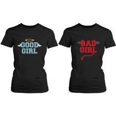 Amazon.com: BFF Matching Shirts - Good Girl Bad Girl Best Friends: Clothing