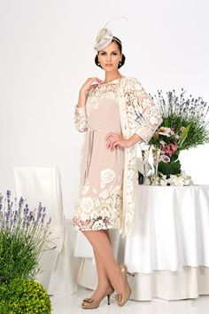 Love the colouring in this day dress from Michaela Louisa. #Bride ...