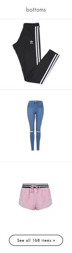 """""""bottoms"""" by andjelb ❤ liked on Polyvore featuring pants, leggings, bottoms, calças, cotton jersey, striped trousers, stretch leggings, adidas pants, stripe pants and jeans"""
