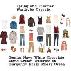 """Spring and Summer Wardrobe Capsule"" by enchantedthimble on Polyvore"