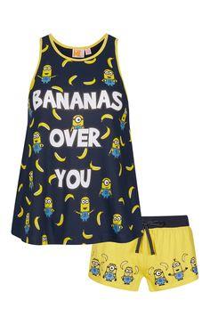 Primark - Pyjama Minions Bananas avec short