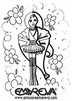 Pin coloriage petite fille rock manga princesse et on pinterest - Coloriage manga rock ...
