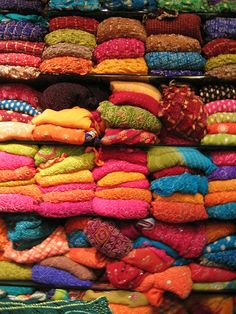 A cacophony of colorful sarees!