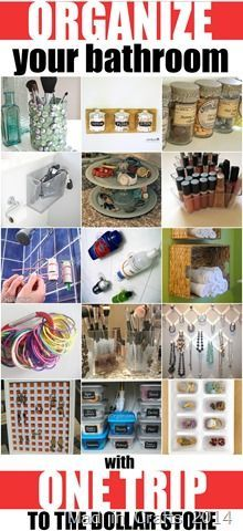 Organize Your Bathroom with One Trip to the Dollar Store - Mad in Crafts