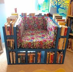 The Bookshelf Chair for the reader in the house!