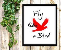 Printable Poster 'Fly Like a Bird' Printable Wall Art by EKphotoArt #walldecor #printable #poster