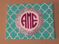 CUSTOM Monogram Canvas by AEMCraftsDesigns on Etsy
