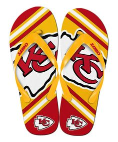 This Kansas City Chiefs Team Logo Flip-Flop - Kids by Forever Collectibles is perfect! #zulilyfinds