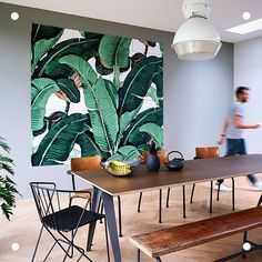 Our brand new collection went live today! Dream, explore and get inspired. The original 'Martinique Banana Leaf' was designed to be wallpaper for the iconic Beverly Hills Hotel in 1942 and is now available on IXXI. This IXXI is bananas.. B A N A N A S!