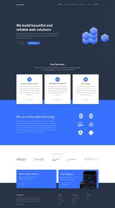 by Flo Steinle - Landing alternative - Web Design Studio, Graphisches Design, Creative Web Design, Web Ui Design, Web Design Trends, Best Web Design, Best Website Design, Website Design Layout, Web Layout