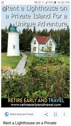 Lighthouse Keeper, Early Retirement, Lighthouses, Island, Adventure, Travel, Viajes, Islands, Destinations