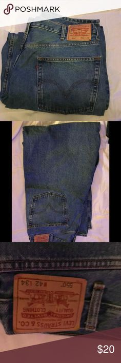 Levi's relaxed fit 550 men's These men's Levi's 550 relaxed fit are new and they're size 42 x 34 levis Jeans Relaxed
