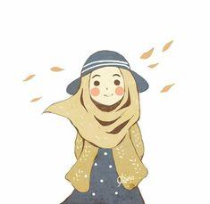Be yourself, Allah will love you. Wallpaper Wa, Hijab Drawing, Islamic Cartoon, Anime Muslim, Hijab Cartoon, Cute Cartoon Girl, Islamic Girl, Cartoon Sketches, Cute Cartoon Wallpapers