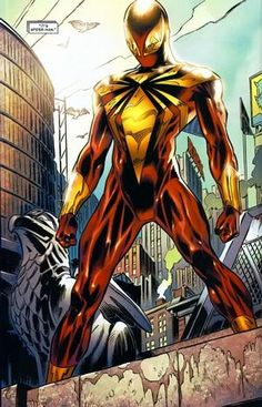 Spider-Man (Peter Parker) is a fictional character, a superhero in the Marvel Comics universe. Created by writer-editor Stan Lee and writer-artist Steve Ditko, Iron Spider Costume, Iron Spider Suit, Marvel Comics, Marvel Heroes, Spiderman Art, Amazing Spiderman, Spider Verse, Comic Books Art, Comic Art