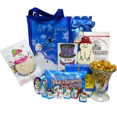 Art of Appreciation Gift Baskets Let It Snow Snowman Christmas Holiday Gift Bag Set => You can get more details here : Gift Baskets