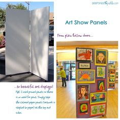 How to run a school art show: Making art display boards