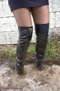 Brown High Heel Boots, Thigh High Boots Heels, Black High Heels, Heeled Boots, Bootie Boots, Sexy Boots, Cool Boots, Mudding Girls, Windy Skirts