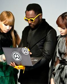 will.i.am, our Director of Creative innovation, with an Ultrabook - Inspired by Intel.