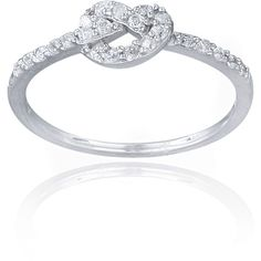 Icz Stonez Sterling Silver Cubic Zirconia Love Knot Promise Ring (€17) ❤ liked on Polyvore featuring jewelry, rings, sterling silver love knot ring, love knot ring, sterling silver cz jewelry, sterling silver cubic zirconia jewelry et zirconia rings