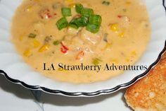 La Strawberry Adventures: Crawfish & Corn Soup