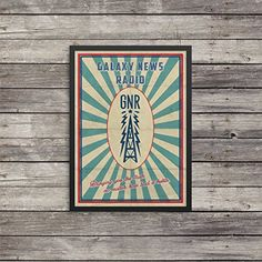 Fallout Poster  Galaxy News Radio poster  Vintage look print  Videogame art  GNR poster ** Check out this great product.