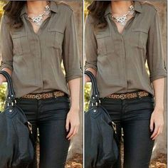 Fashion Women Button Down Shirt Casual Long Sleeve Slim T-shirt Tops Blouse NEW - Shirt Casuals - Ideas of Shirt Casual - Fashion Women Button Down Shirt Casual Long Sleeve Slim T-shirt Tops Blouse NEW Womens Fashion For Work, Work Fashion, Fashion Women, Fashion Clothes, Fashion Online, Club Fashion, Women's Fashion, Fashion Black, Fashion Pants
