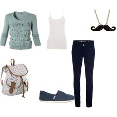 Back to school outfit., created by lejla-b on Polyvore