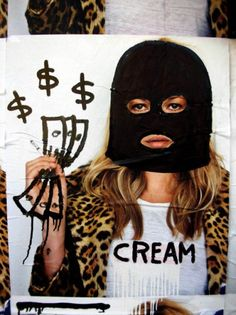 london street artists do some editorial work on the Supreme x Kate Moss posters