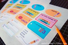 Under A Cherry Tree: LD Friday Freebie: Pop School-Back to School Printable Labels