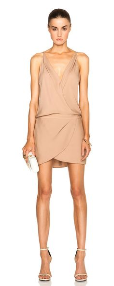 MASON BY MICHELLE MASON Cami wrap silk mini dress found on Nudevotion