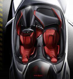 Car Interior Sketch, Car Interior Design, Interior Photo, Tesla Interior, American Sports, Car Sketch, Koenigsegg, Car Painting, Chevrolet Corvette