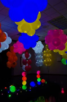 A Lite-a-Loon™ Room was created at burton + BURTON to showcase how bright, versatile, and impressive these balloons really are! #litealoon #burtonandburton #LEDballoons