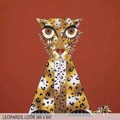 Leopards Look (60x60)