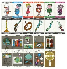 60's Clue Cards :: this is the version I remember.