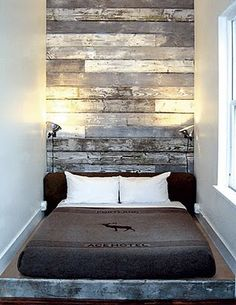 recycled timber feature wall