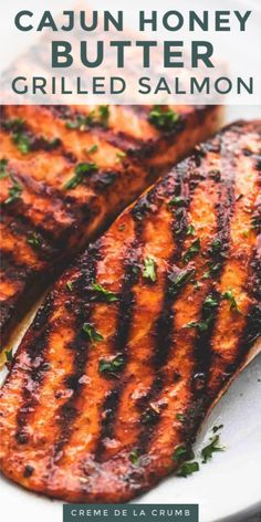 Grilled Salmon Recipes, Spicy Salmon, Healthy Salmon Recipes, Seafood Recipes, Dinner Recipes, Cooking Recipes, Honey Salmon, Grill Recipes, Best Grilled Salmon Recipe Ever