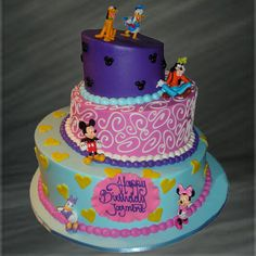 Minnie Mouse and Friends Topsy Turvy Specialty Cake - Palermo's Bakery | Palermo's Bakery