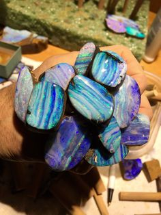 Another bouquet of freshly polished Boulder Opal!  Bill Kasso