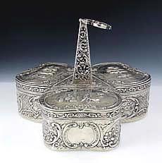 German Silver Tea Caddy - Georg Roth & Co. 1900